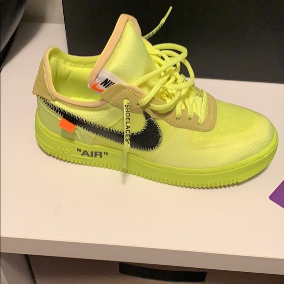 White Limited Edition Lime Green